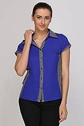 Kaaryah - Indigo Short Sleeves Shirt