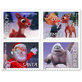 Rudolph the Red-Nosed Reindeer 2014 USPS Forever Stamps