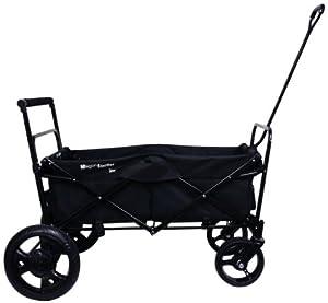 Amazon.com : Go-Go Babyz Folding Wagon Stroller Cart, Black : Tandem