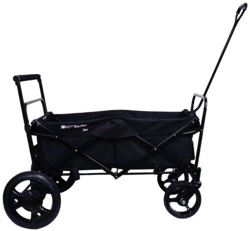 Go-Go Babyz Folding Wagon Stroller Cart, Black