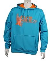 Flow Society Authentic Logo Lacrosse Hoodie, Blue/Orange, Size Large