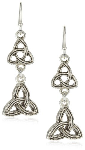The Vatican Library Collection Celtic Trinity Triquetra Drop Earrings