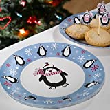 Neviti Party Penguin Paper Plate Pack of 8 White/ Blue