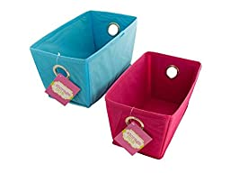 Bulk Buys OF459-18 Cloth Covered Home Storage Box, 18 Piece