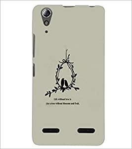 PrintDhaba Quote D-3761 Back Case Cover for LENOVO A6000 (Multi-Coloured)
