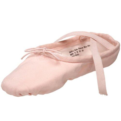 NWT CAPEZIO 2039 SPLIT SOLE BALLET SHOES CANVAS PRO PINK DANCE