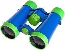 Comprar Bresser - Prismáticos infantiles (4x30), color verde y azul
