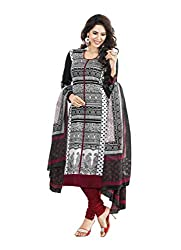 Suhanee Womens Cotton Unstitched Dress Material (Jasmine-4609 _Black)
