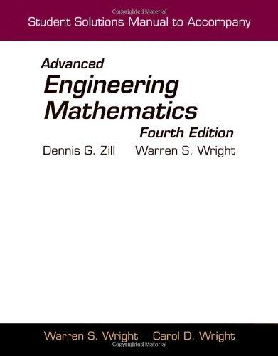 Student Solutions Manual To Accompany Advanced Engineering Mathematics