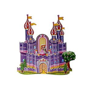 A-008-Spielzeug-Mrchen-Prinzessinnen-Schloss-3D-Puzzle-Modellbau-35-Teile-NEU