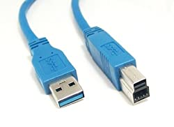 Micro Connectors USB 3.0 A to B 10 Feet Peripheral Cable (E07-310AB-BL)
