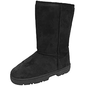 JC Fashion Boots Faux Suede Lug Sole Boot