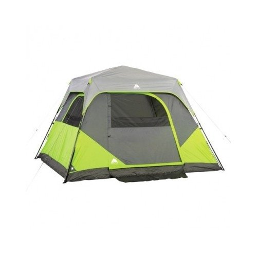 6-Person Family Tent Spacious 10' X 9' Cabin Tent Easy 60-Second Setup Pre-Attached Poles Free Standing With Rain Fly A Great Family Tent From Ozark Trail front-999187