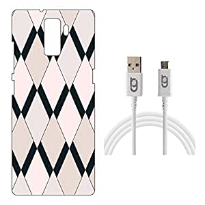 Designer Hard Back Case for Huawei Honor 7 with 1.5m Micro USB Cable