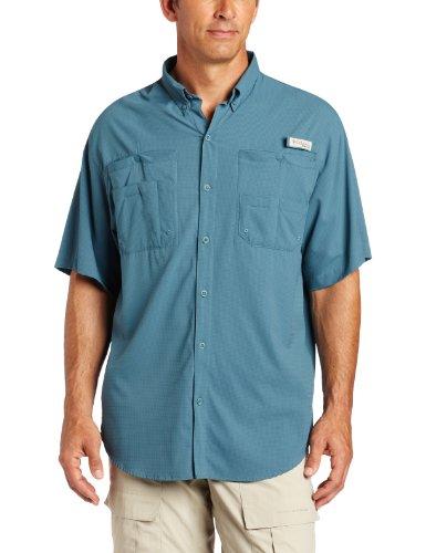 Columbia Men's Tamiami II Short Sleeve Fishing Shirt (Tidewater, Large)