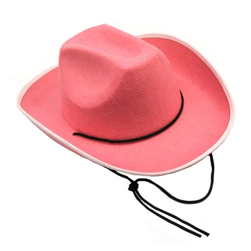 "US Toy - H373 Cowboy Hat-Pink, Made of felt, Opening Size: 25"" Circumference - 1"