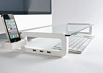 UBOARD SMART - USB Multiboard for your iMac and iPhone (Built-in 3 Port USB 2.0 Hub) - White