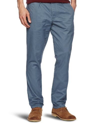 Farah Vintage The Albany Chino Relaxed Men's Trousers Grey Blue W36 INxL32 IN