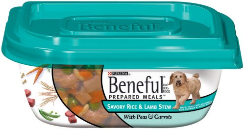 Beneful Dog Food Prepared Meals Savory Rice & Lamb Stew, 10-Ounce Plastic Containers (Pack of 8)