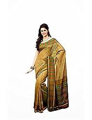 First Loot Designer Party Wear Raw Silk Golden Saree-2366