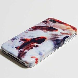au iPhone5 ケース ケース シェルケース 携帯シール デコ 和柄 鯉 選べる8パターン