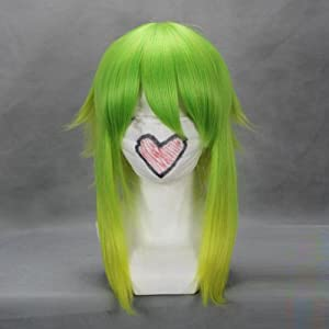 "18"" Green & Yellow Cosplay Wig -- VOCALOID GUMI"