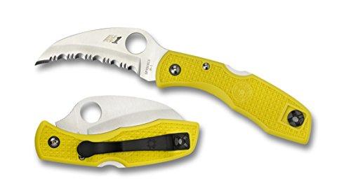 Spyderco Tasman Salt Serrated Edge Yellow H-1 Steel Knife (Spyderco Serrated Salt compare prices)