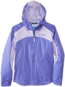 Columbia Big Girls'  Wet Reflect Jacket, Purple Lotus, Large