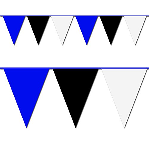 100' Black, Black & White Pennant Flag (Heavy Duty Flag Streamers compare prices)
