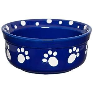 Signature Housewares Paws Dog Bowl, Small, Cobalt Blue