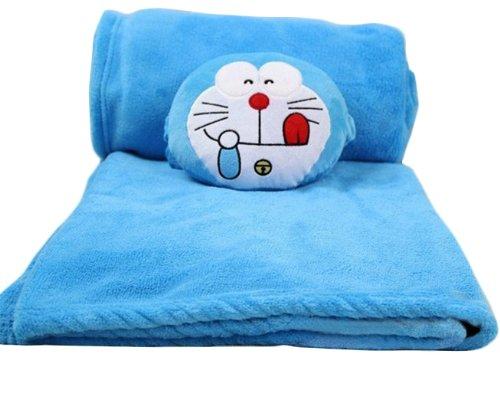 200 X 150Cm Blue Naughty Doraemon Plush Toys Throw Blanket Gift Ideas front-943927