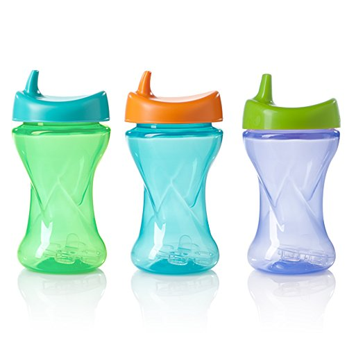 Evenflo Feeding Evenflo Triple-Flo Twist Cups, Blue/Purple/Green - 1
