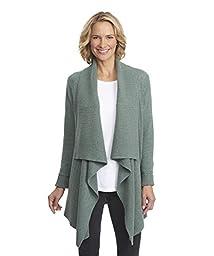 Woolrich Women\'s Clapshaw Long Cardigan Sweater, Blue Fir Heather, XX-Large