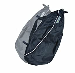 Hamster Stroller Bags Black (2 Pack) Anti-Tip bags for Maclaren, Phil & Teds and more