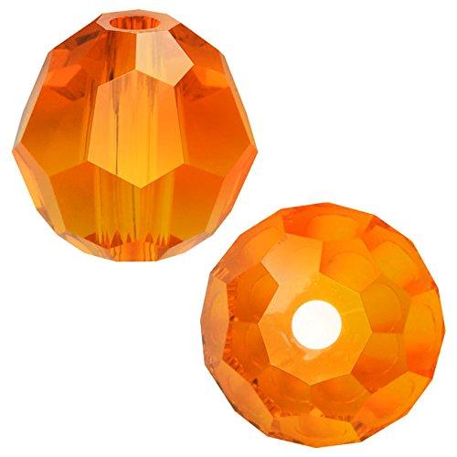 Swarovski Crystal, #5000 Round Beads 4mm, 12 Pieces, Tangerine