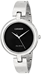"Citizen Women's EM0220-88E ""Silhouette"" Stainless Steel Eco Drive Watch"