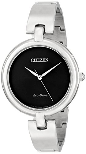 """Citizen Women'S Em0220-88E """"Silhouette"""" Stainless Steel Eco Drive Watch"""