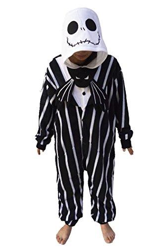 WOTOGOLD Animal Cosplay Costume Jack Skellington Skull Unisex Adult Pajamas Black (Jack Skellington Cosplay compare prices)