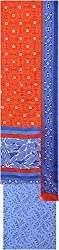 Payal Collection's Women's Cotton Unstitched Salwar (Red and Blue)