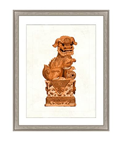 Art Source Orange Foo Dog Print II, Multi