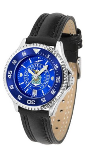 U.S. Air Force MILITARY Womens Leather Anochrome Watch