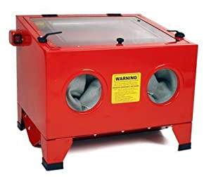 25 Gallon Portable Bench Top Sandblast Cabinet w/ Silicone Sealed Inside