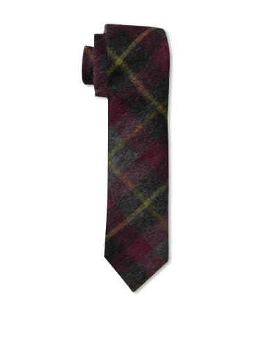 Gitman Men's Plaid Tie, Burgundy, One Size