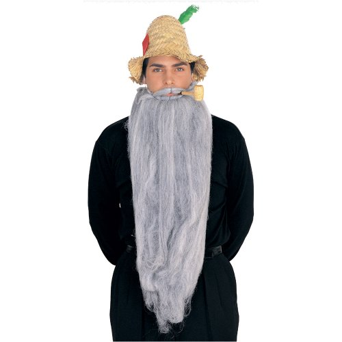Rubie's Costume Extra Long Beard and Moustache Set, Grey, One Size - 1