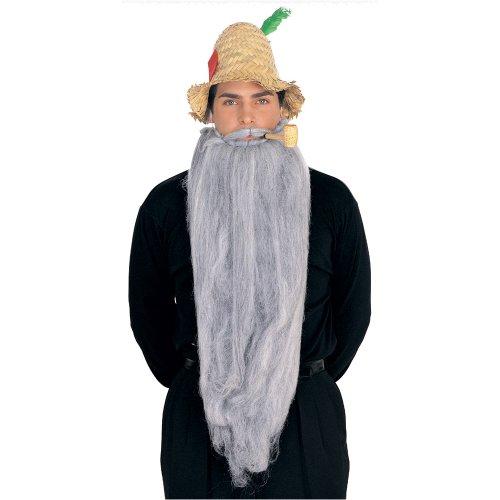 Rubie's Costume Extra Long Beard and Moustache Set, Grey, One Size