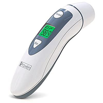 Medical Forehead and Ear Thermometer - the Authentic FDA Approved Professional Thermometer iProven DMT-489 - Unmatched Performance with Revolutionized Technology (2016)
