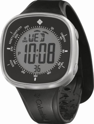 Columbia Men'S Ct001005 The Trailpoint Grey Digital Dial With Black Silicone Strap Watch