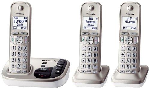 Panasonic KX-TGD223N dect_6.0 3-Handset Landline Telephone