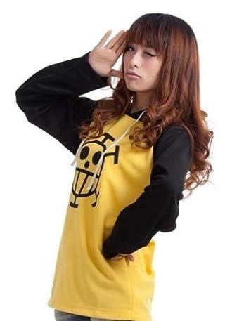 コスプレ衣装ONE PIECE ワンピース トラファルガー・ロー風 長袖Tシャツ パーカー Mサイズ コスチューム、コスプレ