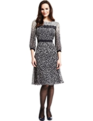 M&S Collection Scatter Ombre Print Yoke Tea Dress